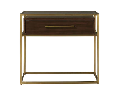 Mahogany and Brass Nightstand