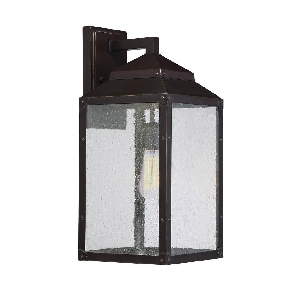 English Bronze Seeded Glass Outdoor Wall Lantern, Lighting, Laura of Pembroke