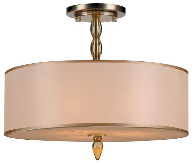 Drum Shade 3 Light Brass Chandelier, Lighting, Laura of Pembroke