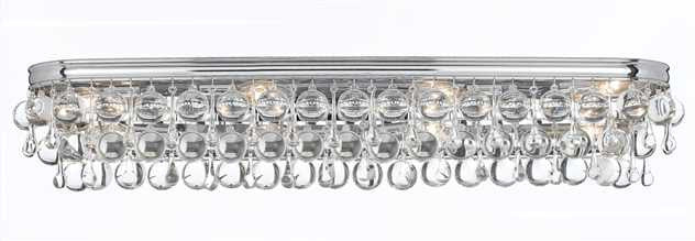 Crystal Teardrop 8 Light Chrome Vanity Light