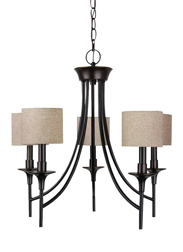 Burnt Sienna 5 Light Chandelier