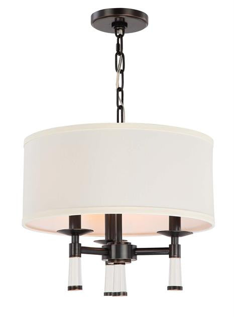 Oil Rubbed Bronze 3 Light Chandelier with Shade