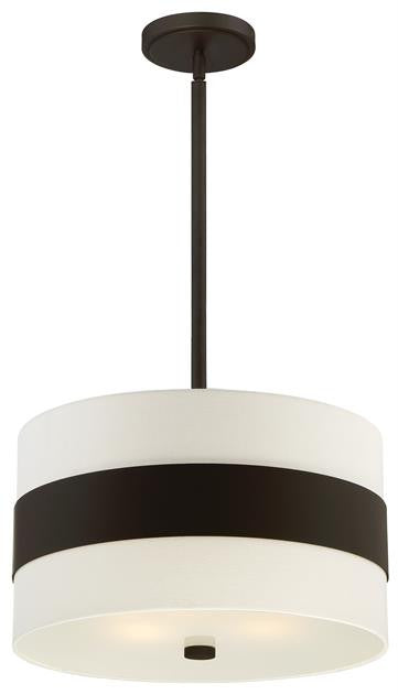 Dark Bronze Stripe 3 Light Pendant