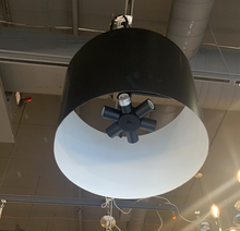 6 Light Matte Black Chandelier