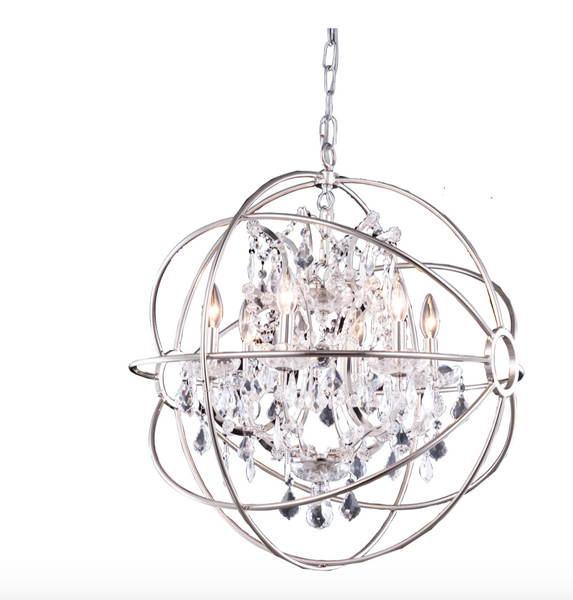 6 Light Orb Chandelier
