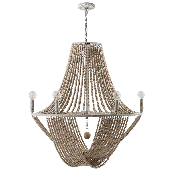 Kayla Mystic Sand Coastal 6 Light Chandelier