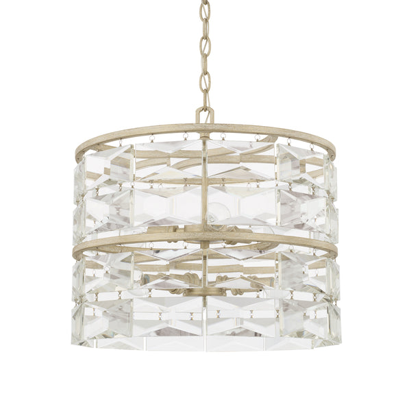 Serena Winter White Crystal 6 Light Pendant
