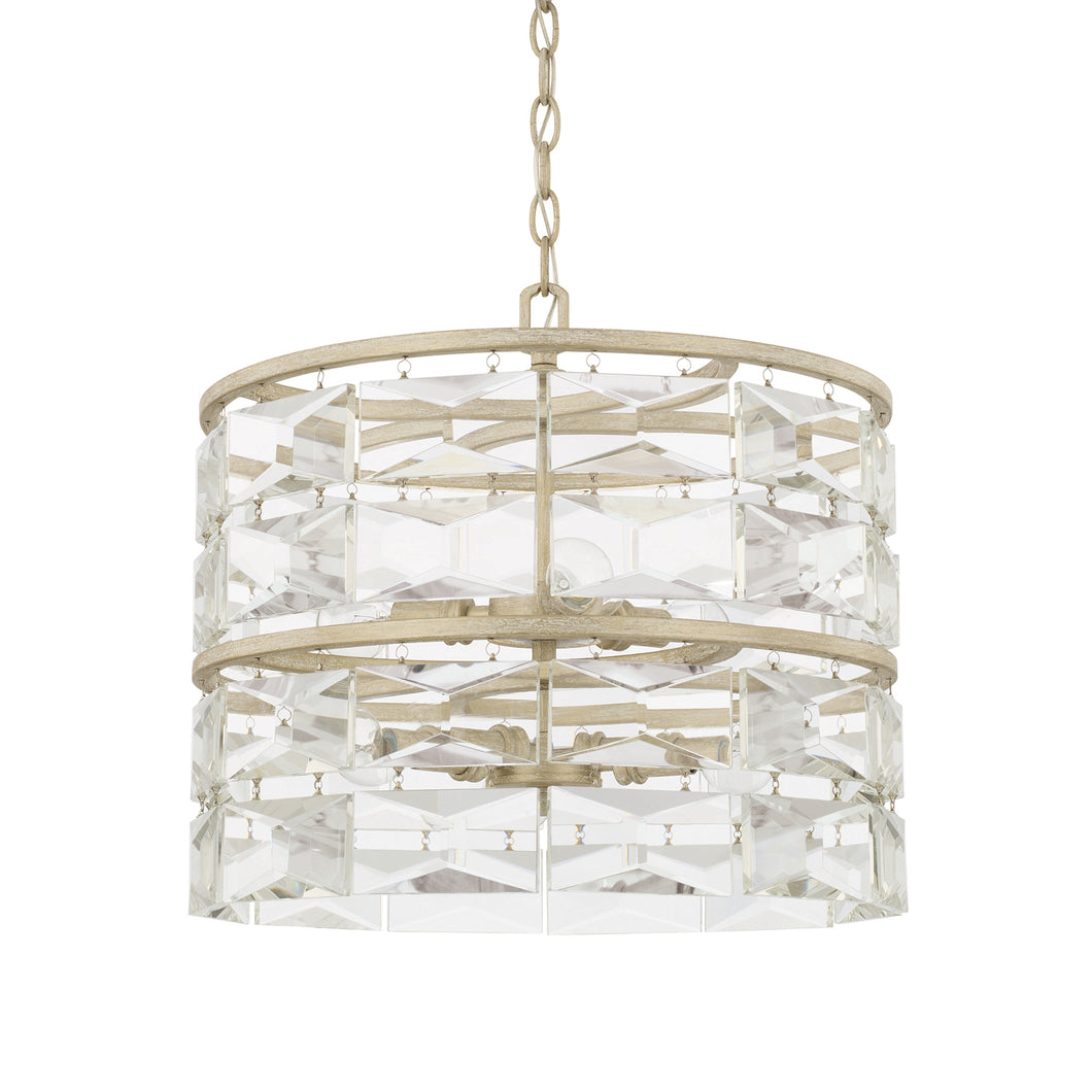 Serena Winter White Crystal 6 Light Pendant, Lighting, Laura of Pembroke