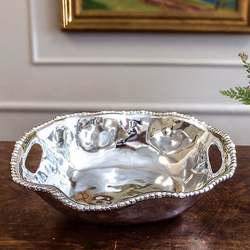 Organic Pearl Kristi Oval Medium Bowl with Handles, Gifts, Beatriz Ball, Laura of Pembroke