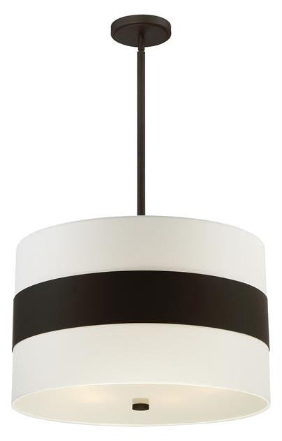 Dark Bronze Stripe 5 Light Pendant