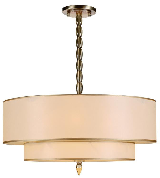 Drum Shade 5 Light Brass Chandelier