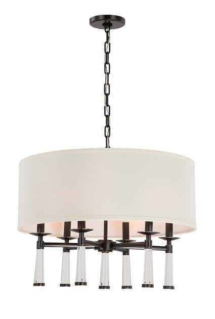 Oil Rubbed Bronze 6 Light Chandelier with Shade, Lighting, Laura of Pembroke
