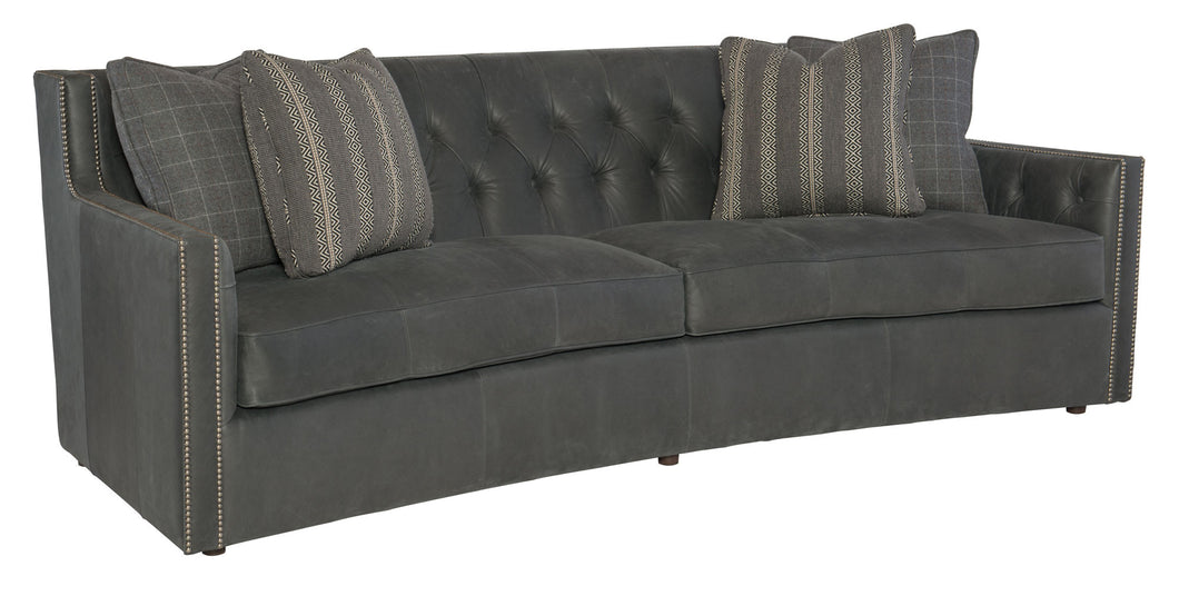 Curved Leather Sofa, Home Furnishings, Laura of Pembroke