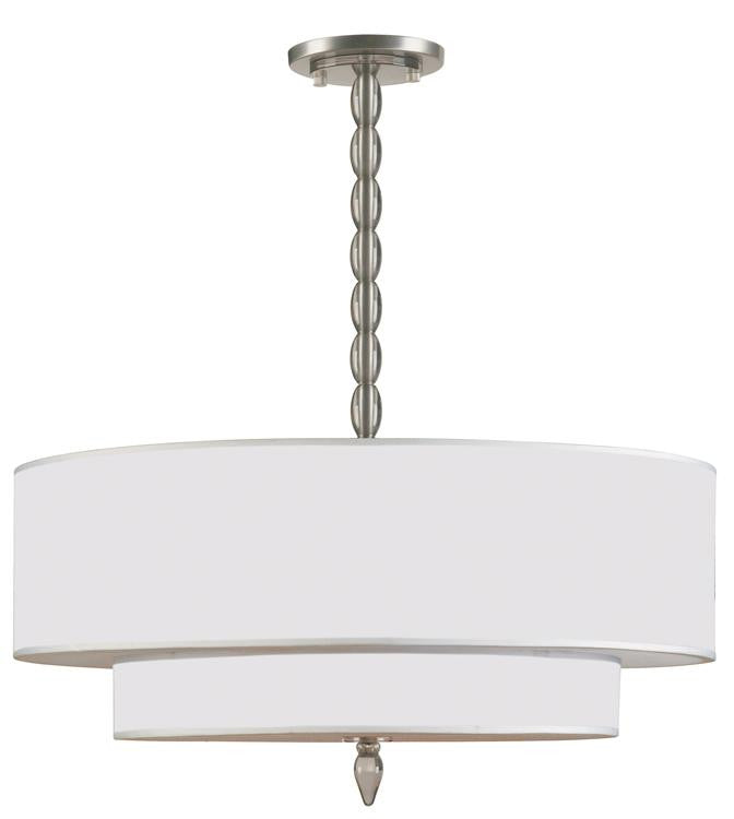 Drum Shade 5 Light Nickel Chandelier, Lighting, Laura of Pembroke