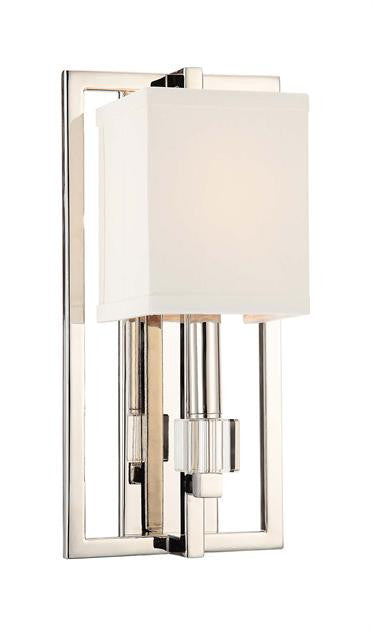 Square Shade Polished Nickel 1 Light Sconce, Lighting, Laura of Pembroke