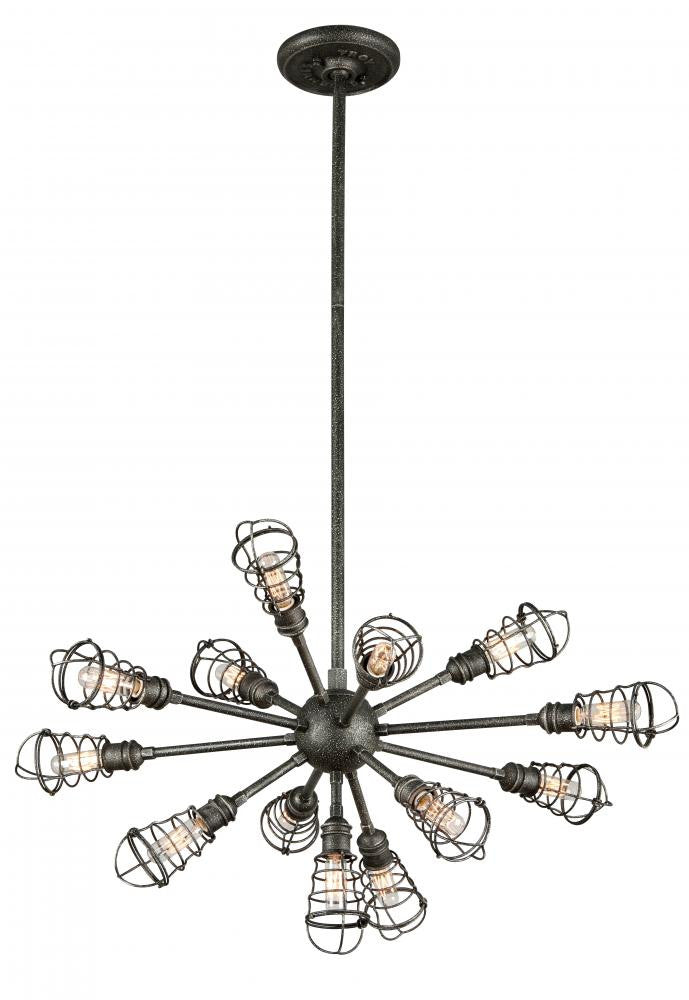 Industrial 13 Light Chandelier, Lighting, Laura of Pembroke