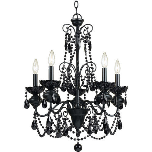 Black Chandelier, Lighting, Laura of Pembroke