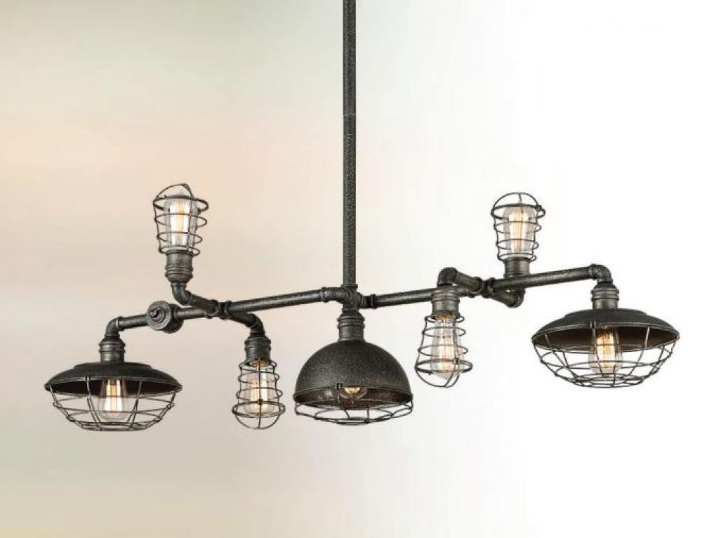 Industrial 7 Light Chandelier, Lighting, Laura of Pembroke