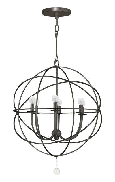 6 Light Bronze Sphere Chandelier, Lighting, Laura of Pembroke