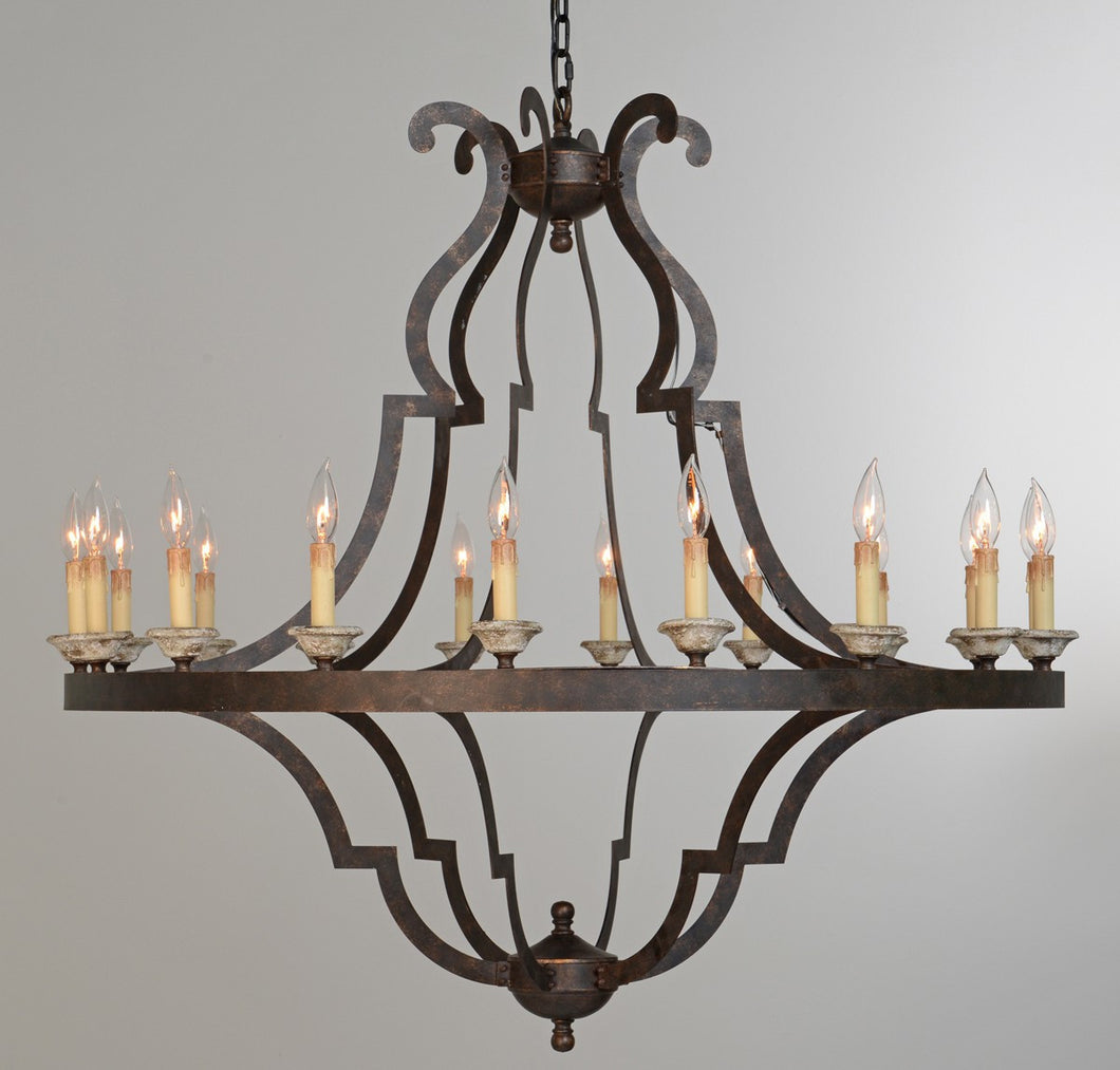 Gatsby Iron Chandelier Large, Lighting, Laura of Pembroke