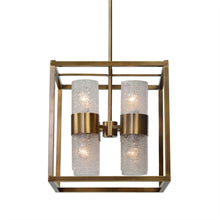 Brass Cube 8 Light Pendant, Lighting, Laura of Pembroke
