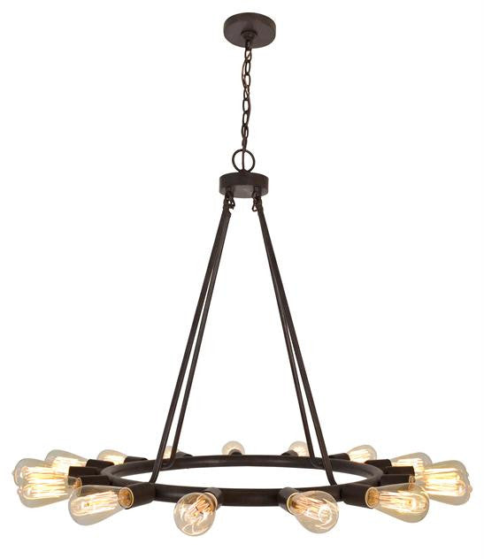 Bronze 15 Light Chandelier