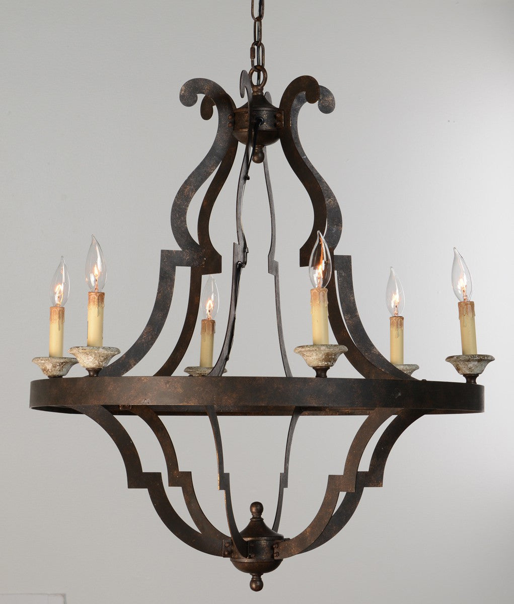 Gatsby Iron Chandelier Small, Lighting, Laura of Pembroke