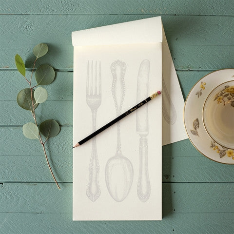 Cutlery Notepad, Gifts, Kitchen Papers, Laura of Pembroke
