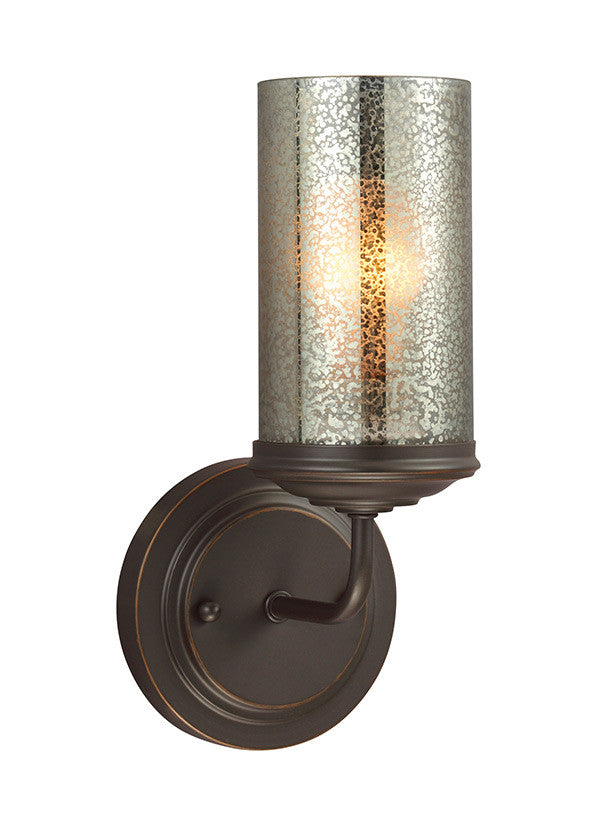 Bronze with Mercury Glass 1 Light Wall Sconce, Lighting, Laura of Pembroke