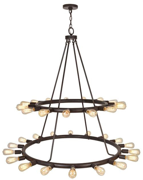 Bronze 33 Light 2 Tier Chandelier