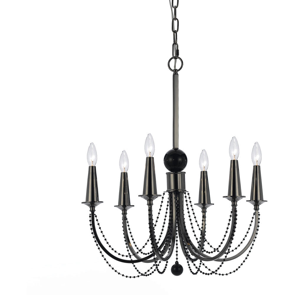 Metal Chandelier, 6 Light, Lighting, Laura of Pembroke