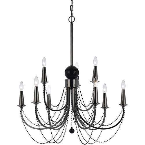 Metal Chandelier, 9 Light, Lighting, Laura of Pembroke