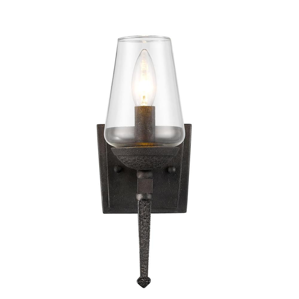 Dark Natural Iron 1 Light Sconce