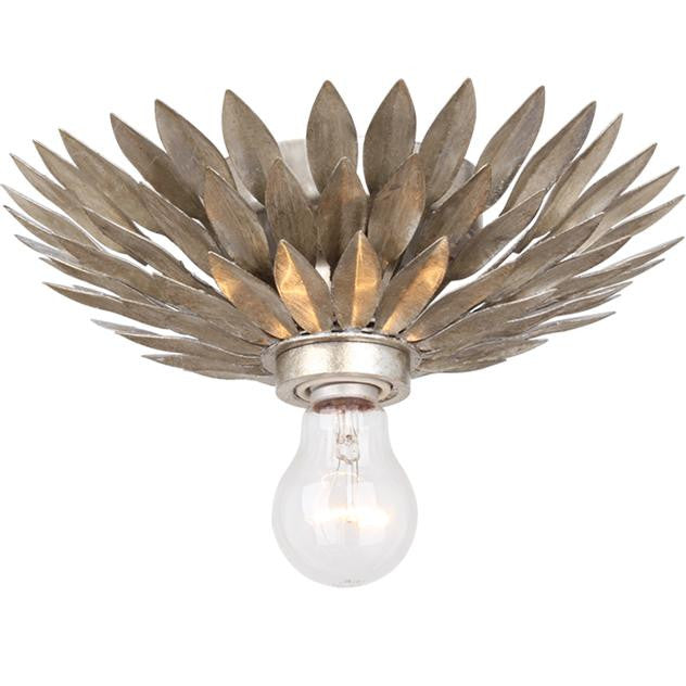 Silver Leaf 1 Light Flush Mount, Lighting, Laura of Pembroke
