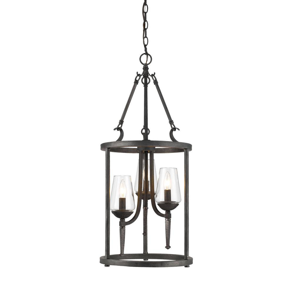 Dark Natural Iron 3 Light Pendant, Lighting, Laura of Pembroke