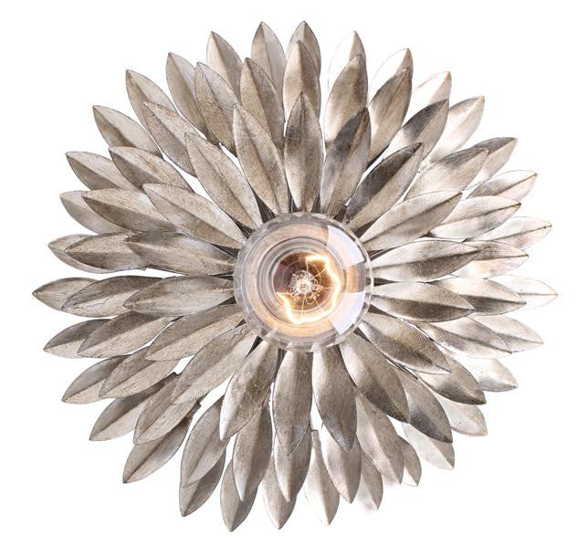 Silver Leaf 1 Light Sconce, Lighting, Laura of Pembroke