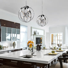 Carter 8 Light Pendant in Chrome