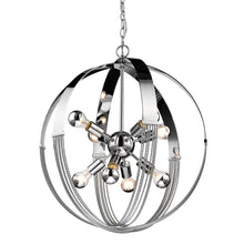 Carter 8 Light Pendant in Chrome, Lighting, Laura of Pembroke