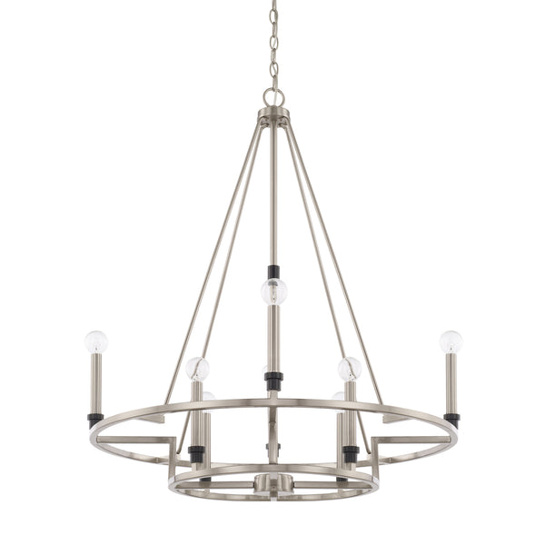 Tux Black Tie 8 Light Chandelier