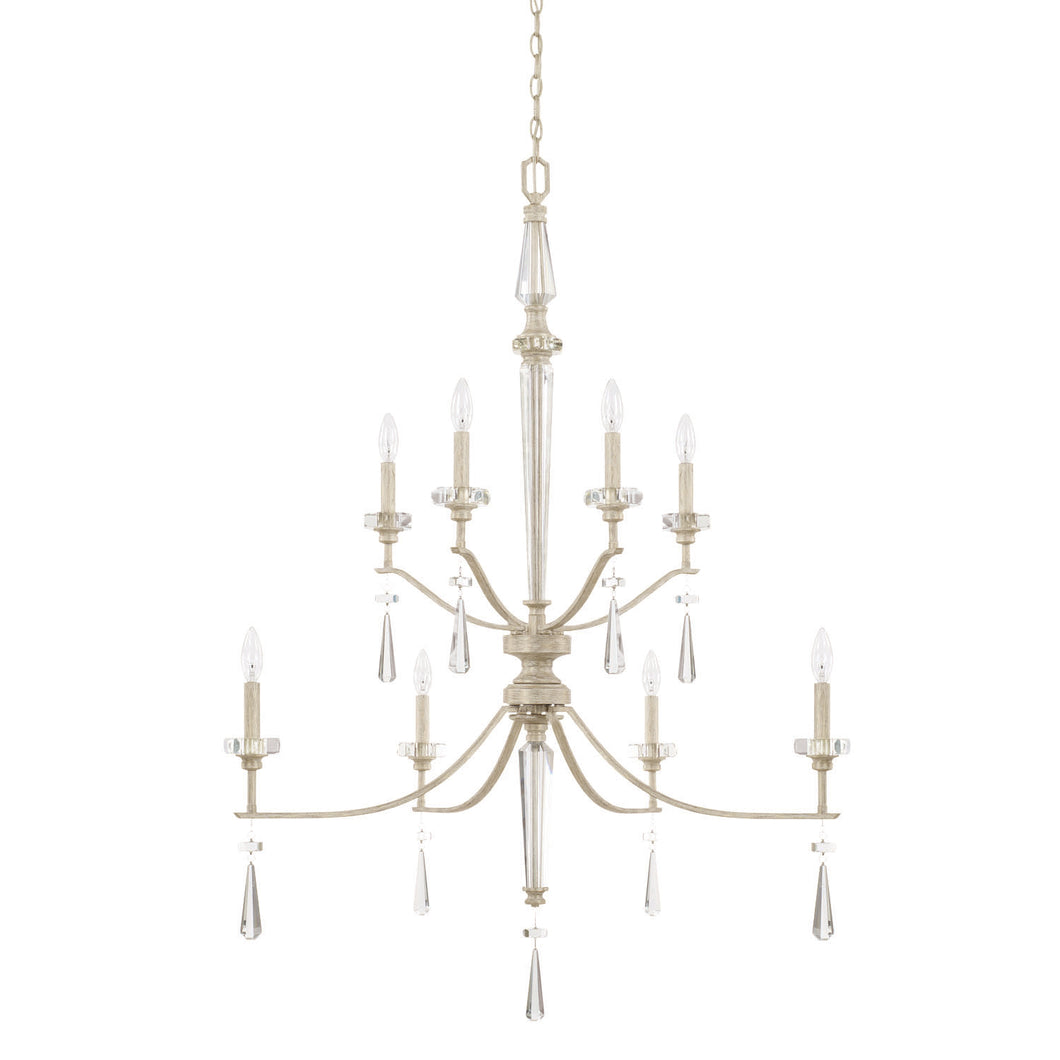Serena Winter White Crystal 8 Light Foyer, Lighting, Laura of Pembroke