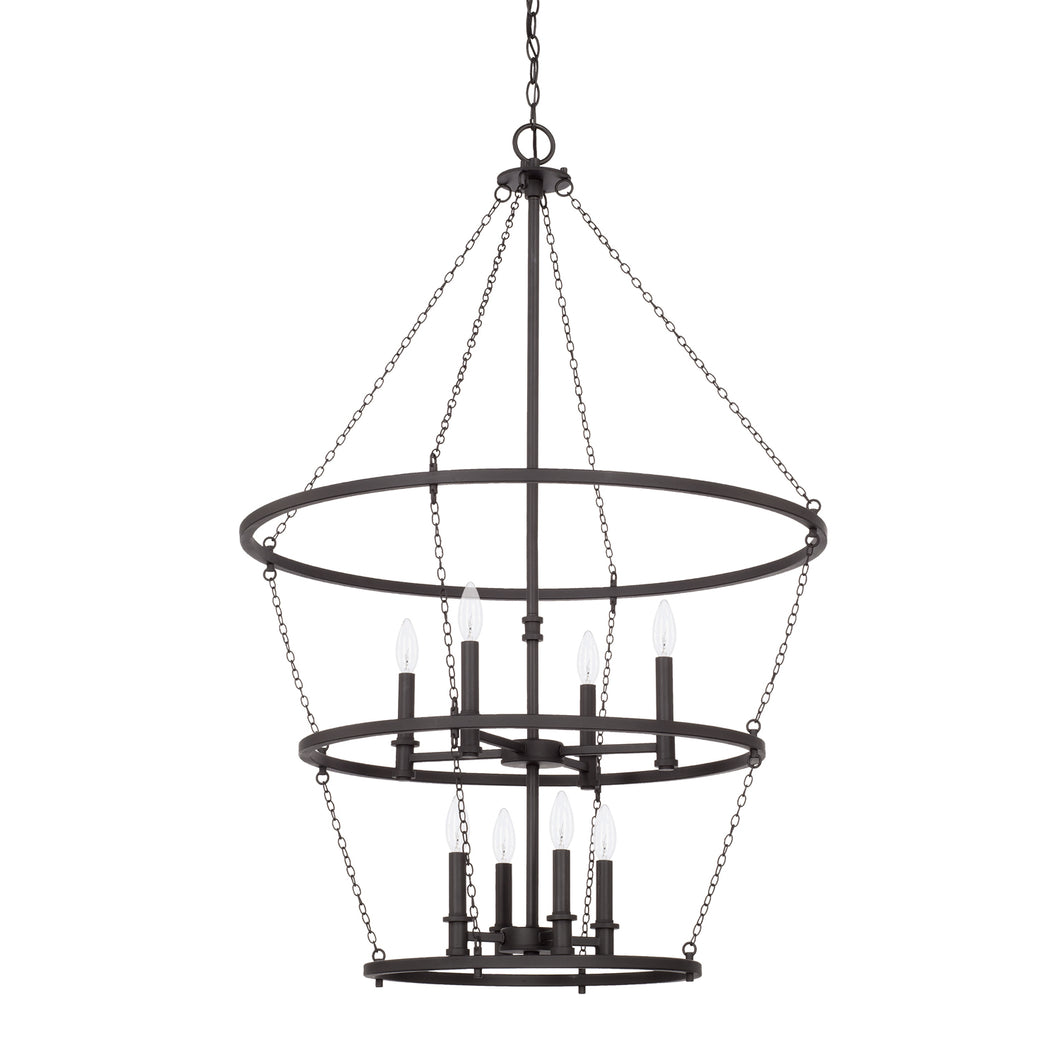 Lancaster Black Iron 8 Light Foyer, Lighting, Laura of Pembroke