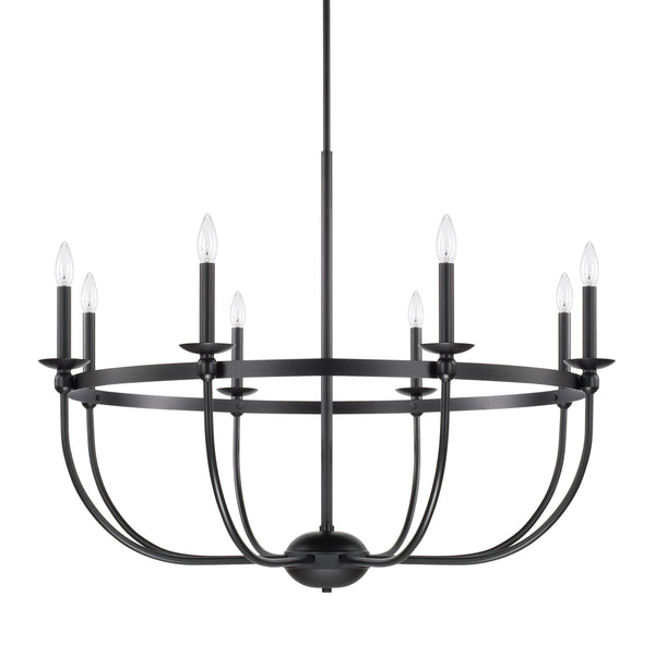 Rylann Matte Black 8 Light Chandelier, Lighting, Laura of Pembroke