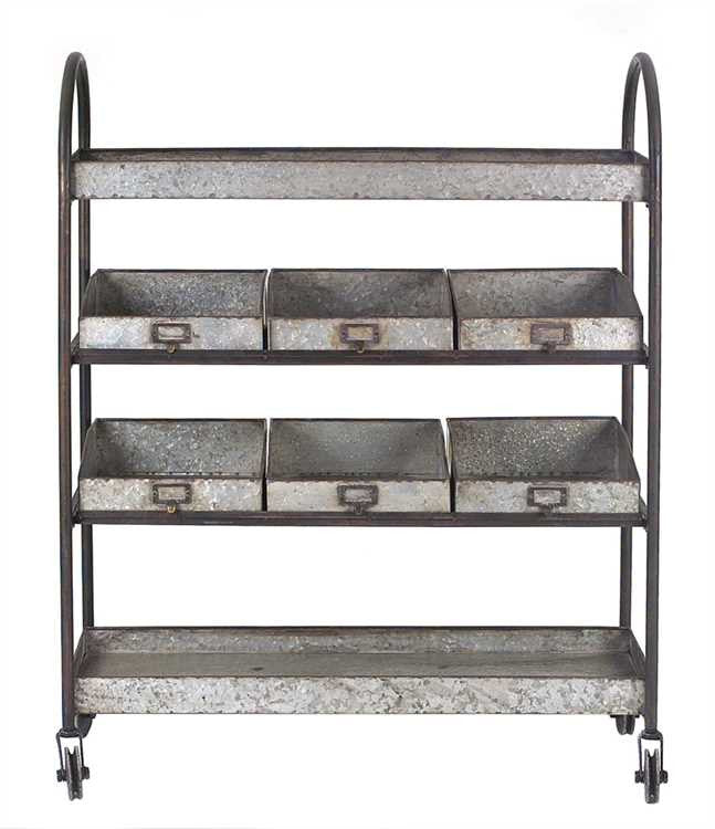 4-Tier Cart with Bins, Home Furnishings, Laura of Pembroke