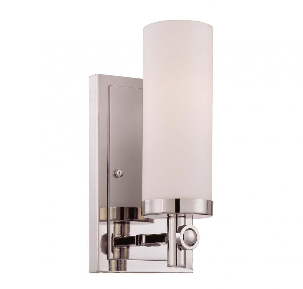 Contemporary Polished Nickel Wall Light