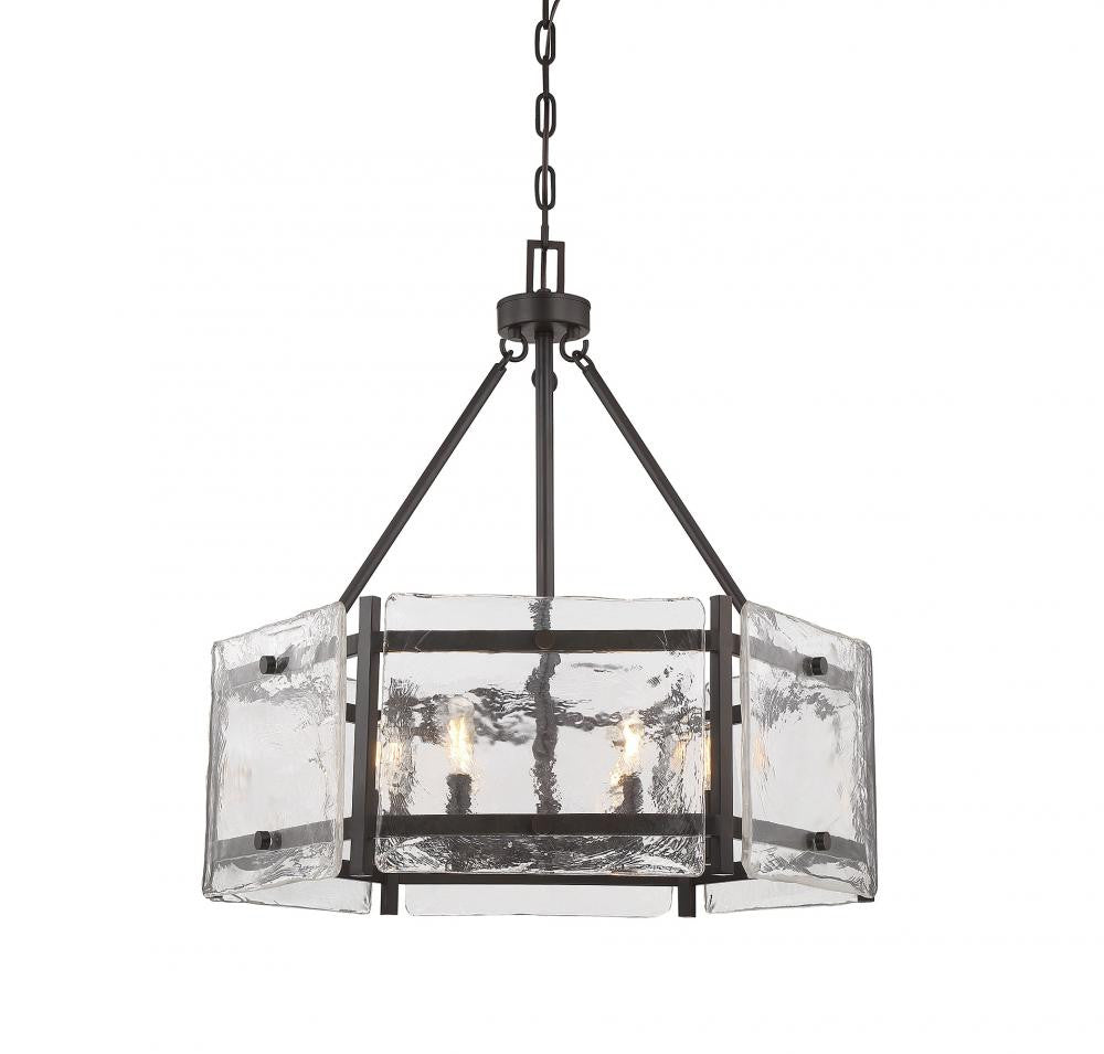 Piastra Glass 4 Light Pendant, Lighting, Laura of Pembroke
