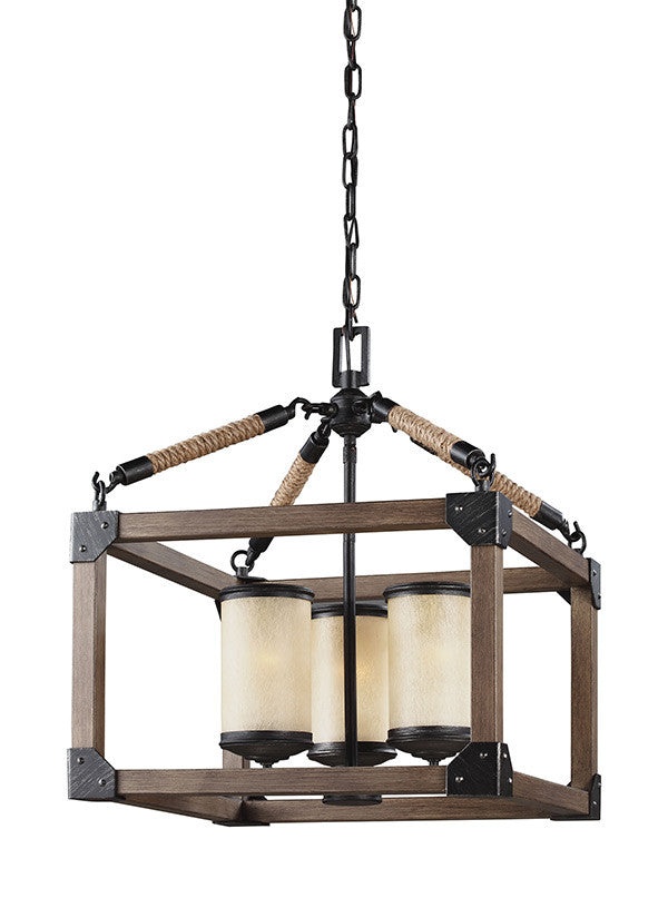 Rustic Wood 3 Light Chandelier, Lighting, Laura of Pembroke