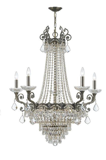 Majestic 13 Light Swarovski Strass Crystal Brass Chandelier