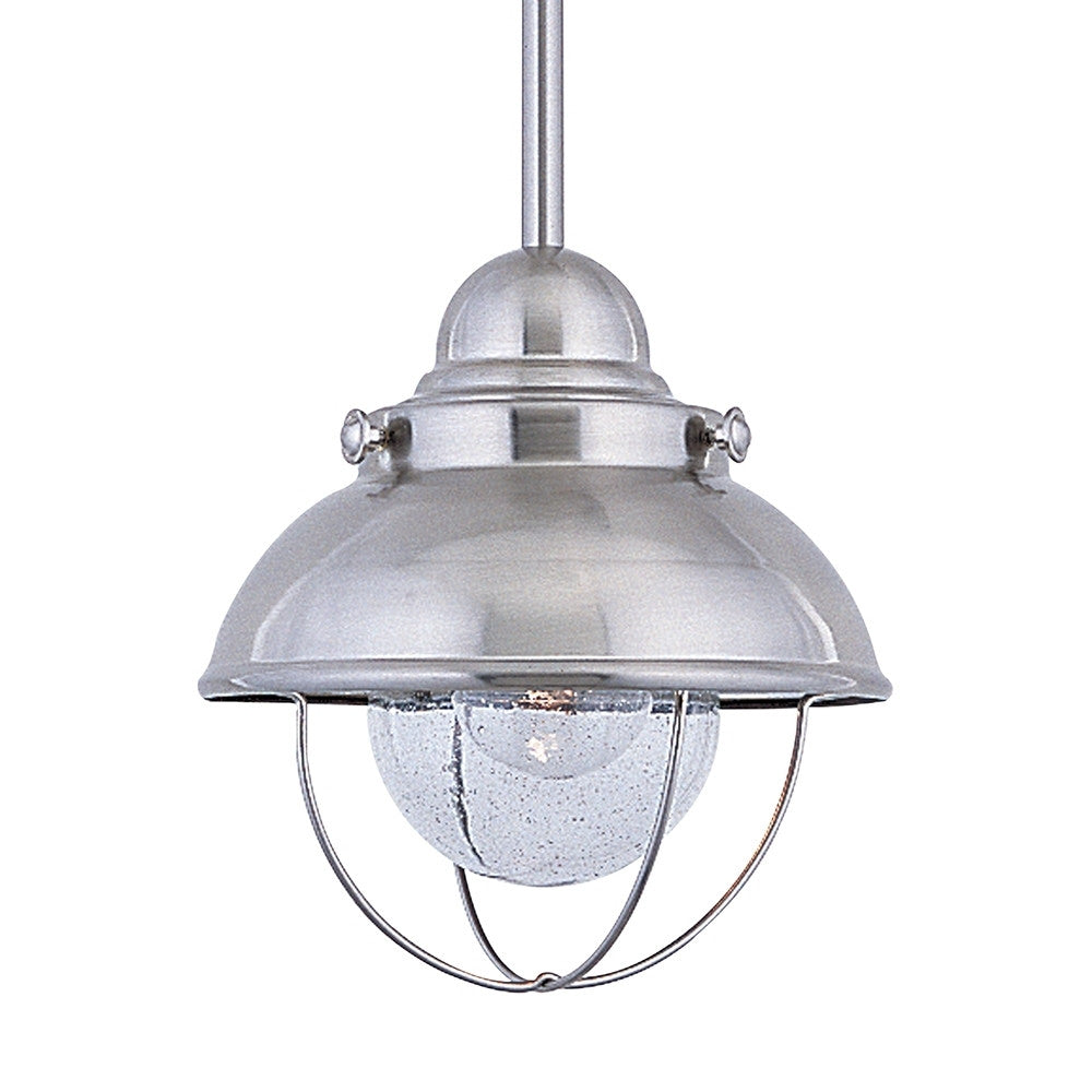 Brushed Stainless Steel Outdoor Mini Pendant, Lighting, Laura of Pembroke