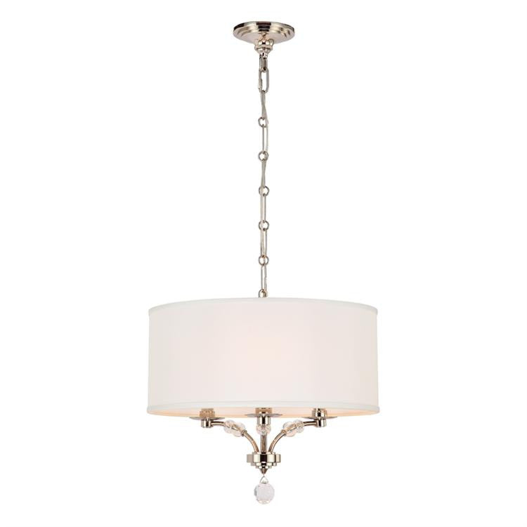 Polished Nickel 3 Light Mini Chandelier, Lighting, Laura of Pembroke
