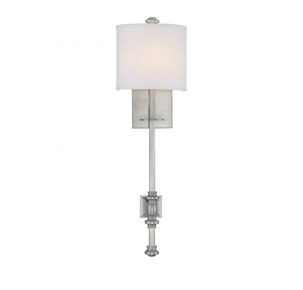 Satin Nickel 1 Light Wall Sconce, Lighting, Laura of Pembroke